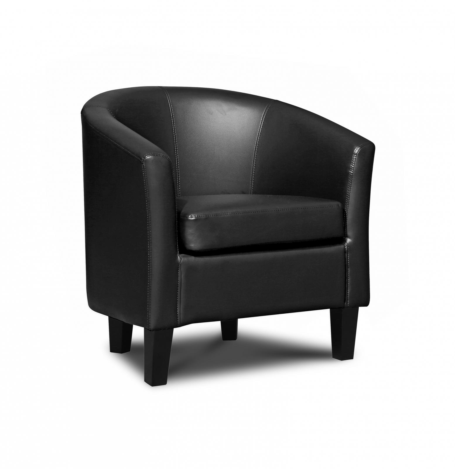 denver faux leather tub chair grey ebay. Black Bedroom Furniture Sets. Home Design Ideas