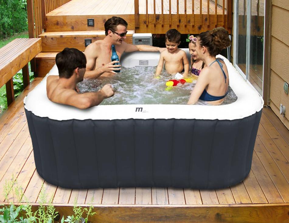 mspa alpine luxury aufblasbar 2 2 quadrat tragbar jacuzzi whirlpool spa system ebay. Black Bedroom Furniture Sets. Home Design Ideas
