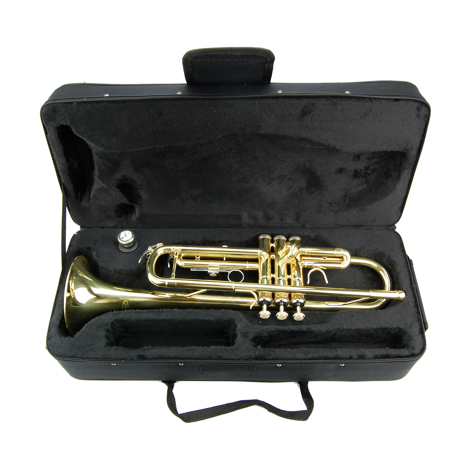 NEW B Flat Gold Brass Trumpet with Case Band Beginner ...