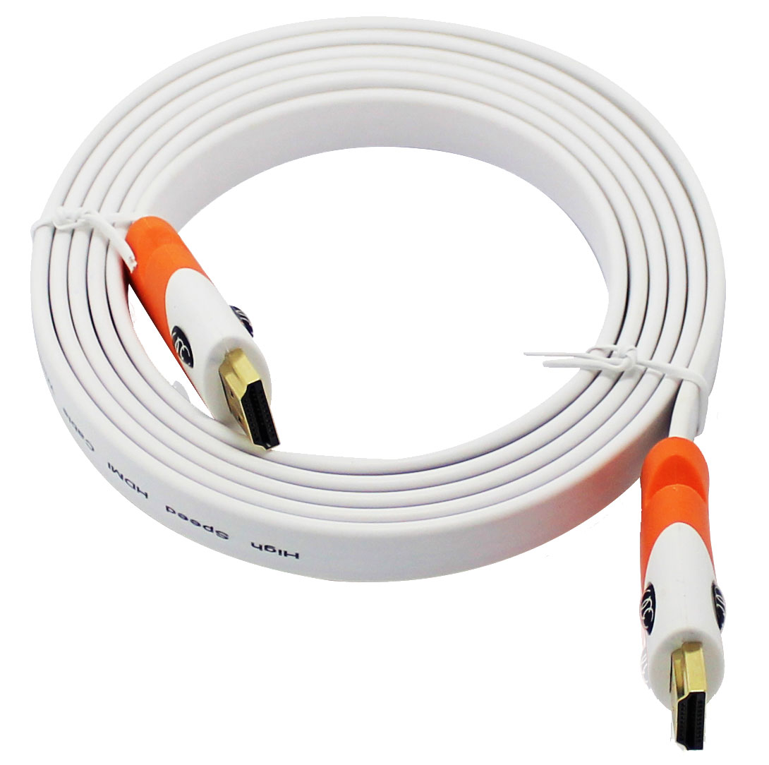 Flat Tv Cable Wire : Ultra clarity flat cable hdmi under carpet cord k