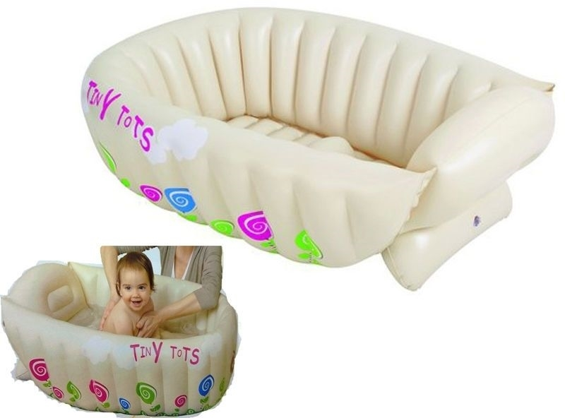 baby infant travel bath girls boys inflatable washing tub with he. Black Bedroom Furniture Sets. Home Design Ideas
