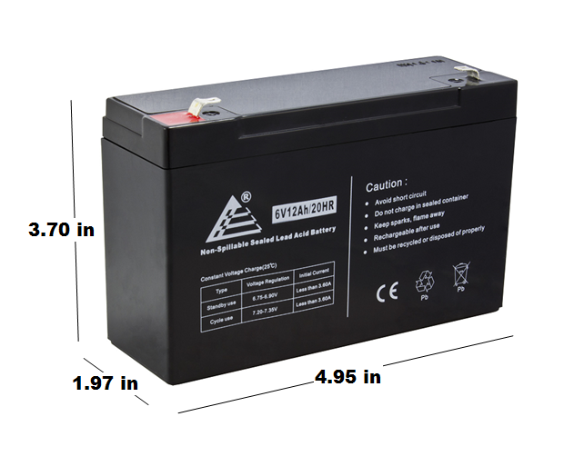 6V 12Ah F1 Replacement Battery for Sola 600VA