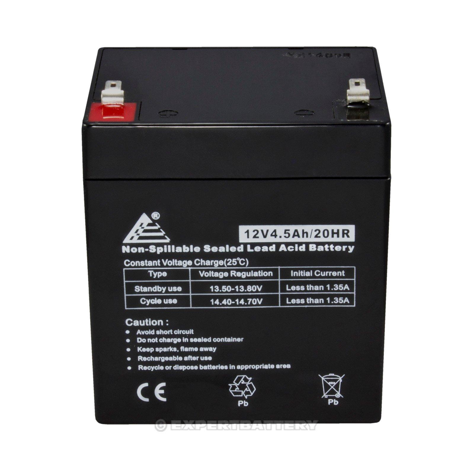 Set Of 2 12v 45ah Sla For Razor E100 E125 E150 Electric Scooter Ups Anti Spark Circuit Built Into The Battery Pack Batteries