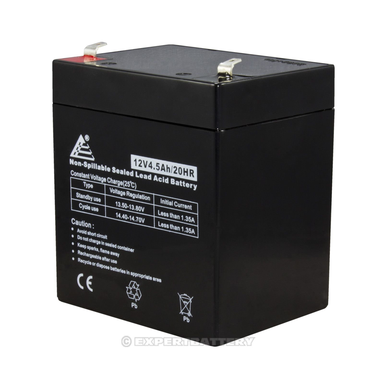 12v 4 5ah sealed lead acid sla replacement battery for. Black Bedroom Furniture Sets. Home Design Ideas