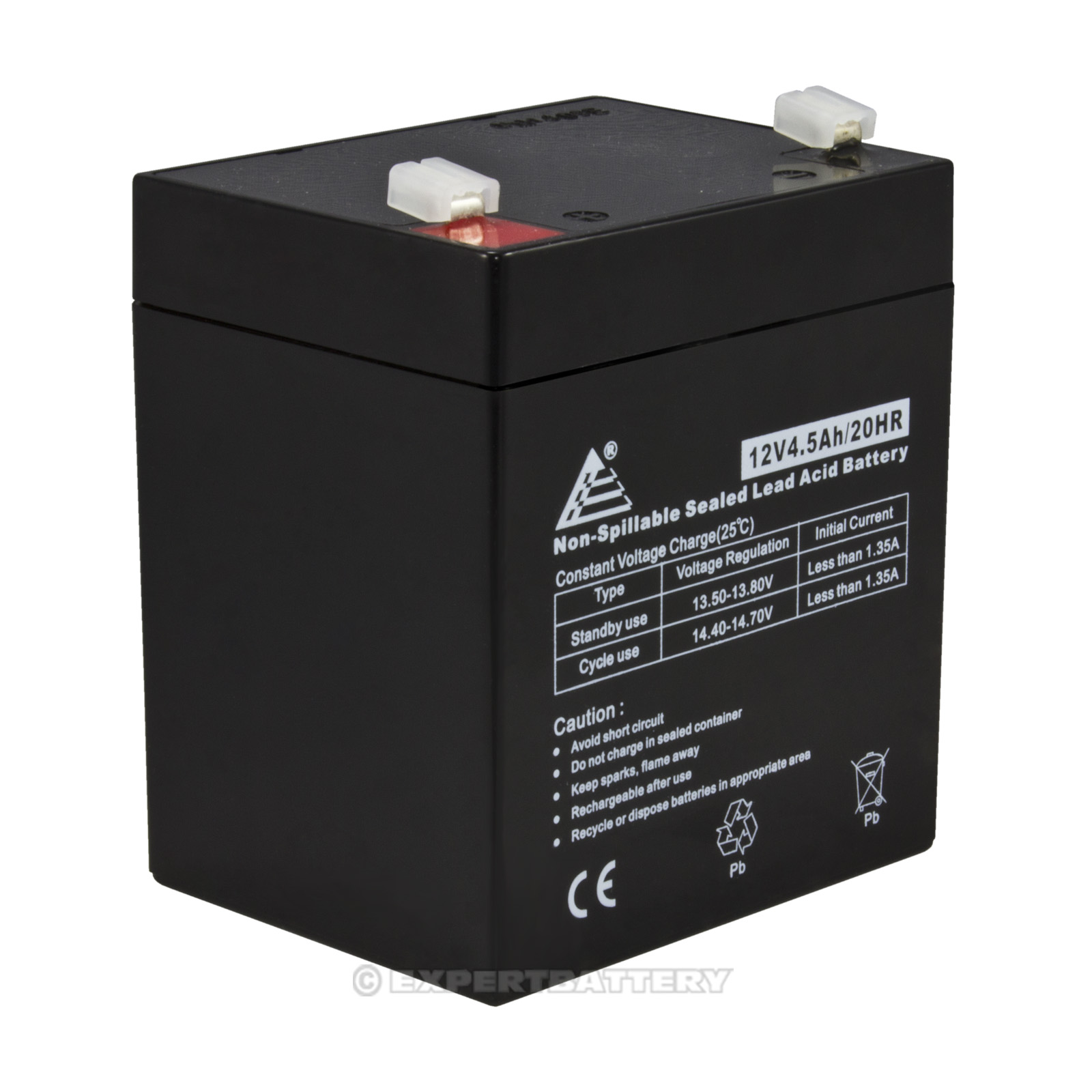 12v 4 5ah 12 volt 4 5 amp hour sealed lead acid sla battery ebay. Black Bedroom Furniture Sets. Home Design Ideas