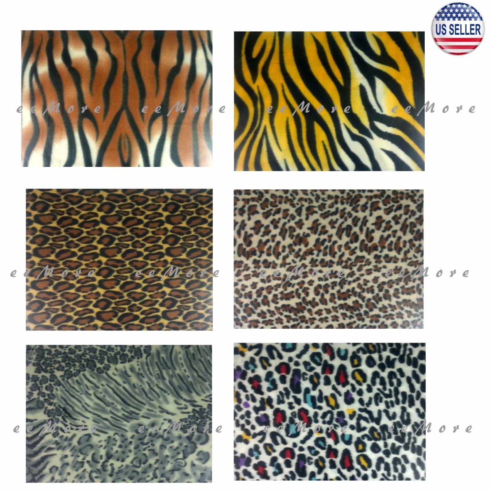 "50"" x 60"" Soft Animal Leopard Tiger Safari Print Fleece Throw Blanket US Stock"