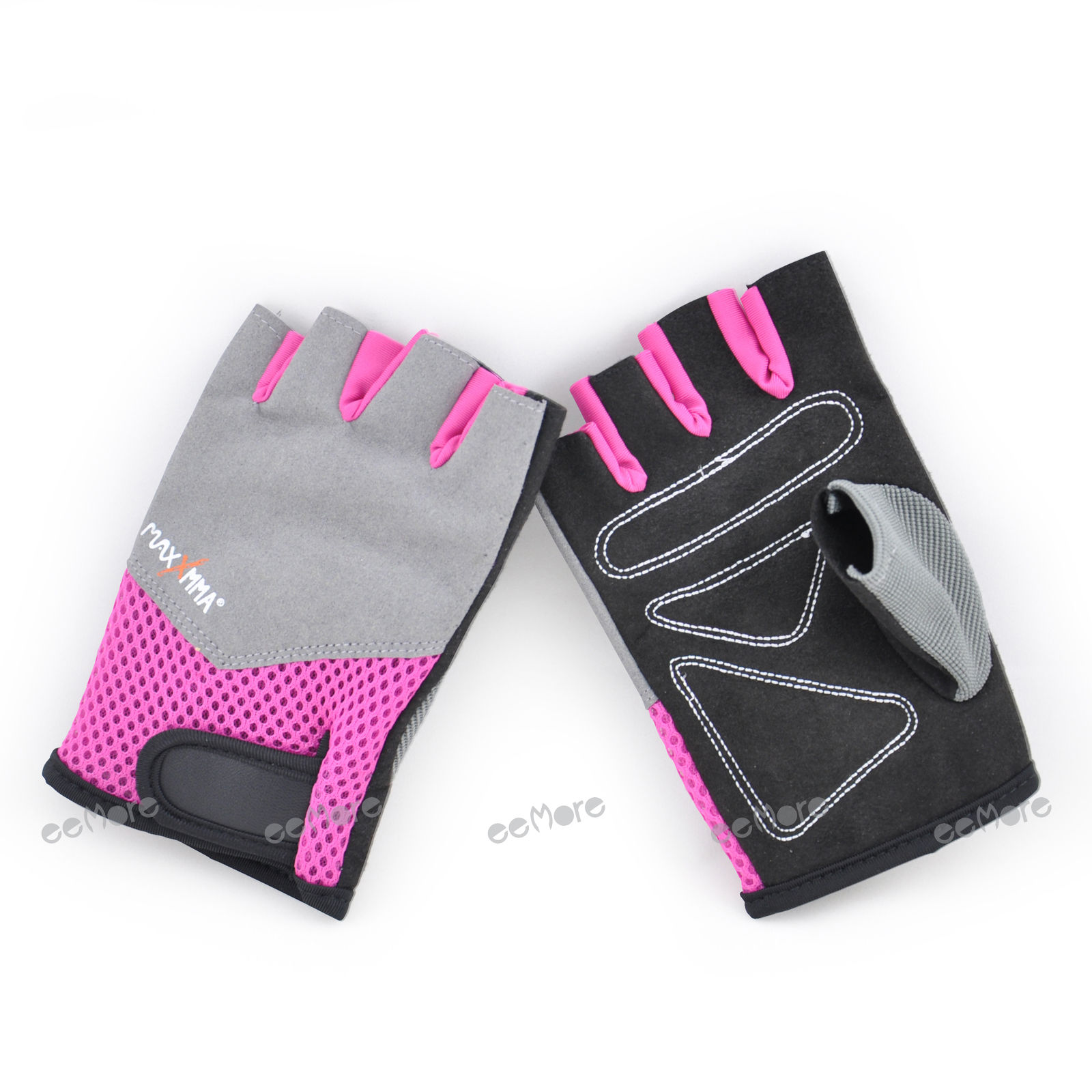Weighted Lifting Gloves Half Finger Size M Pink For Women