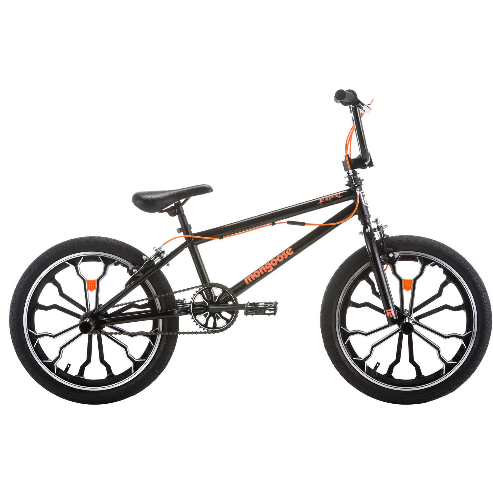 Mongoose 20 Bmx Bicycle Rebel Freestyle Black Stunt Bike