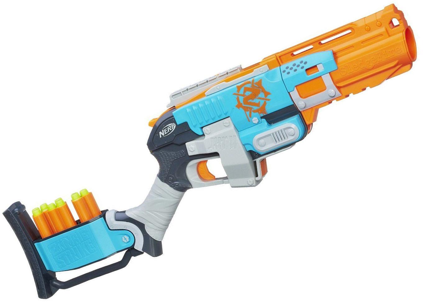 Nerf Zombie Strike Sledgefire Blaster New Gun Dart Toy 3