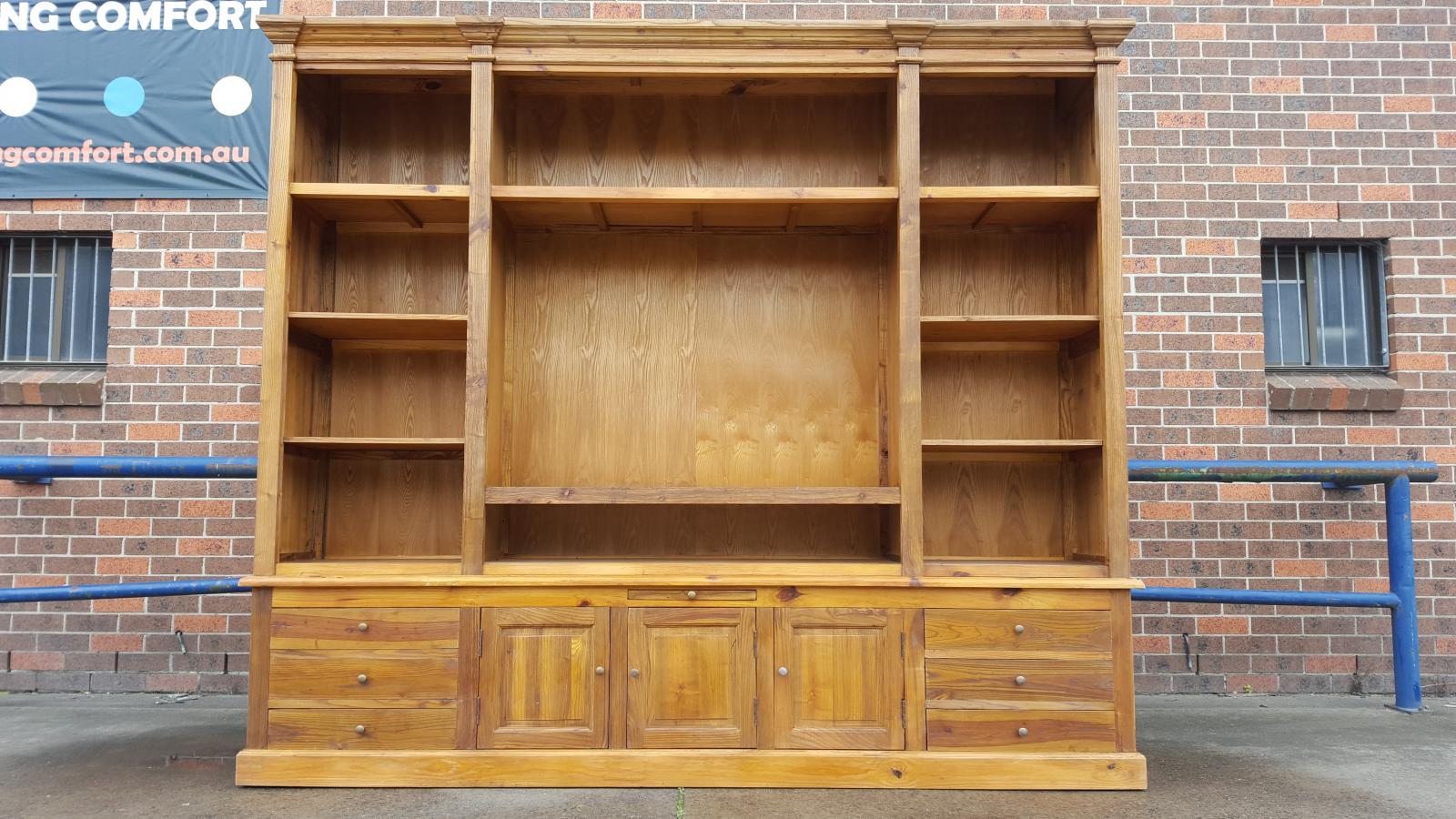 New French Provincial Library Bookcase Tv Entertainment