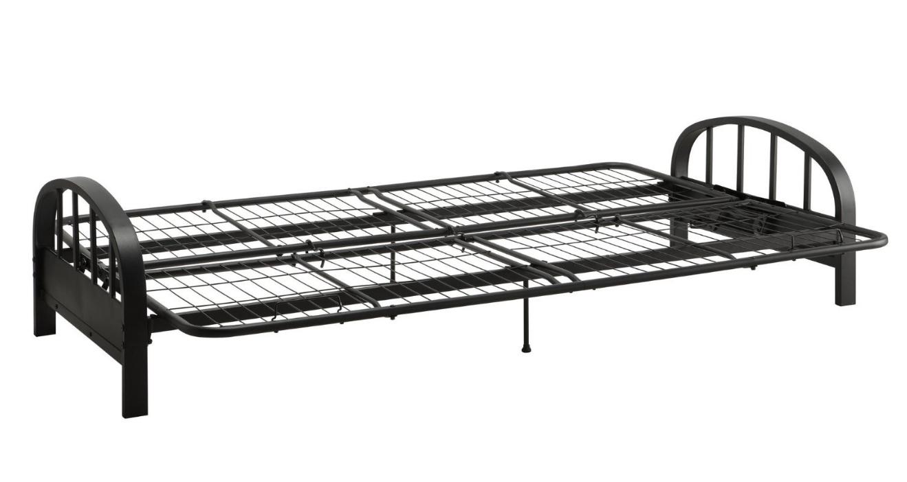 futon modern frame full size for mattress bed sofa metal