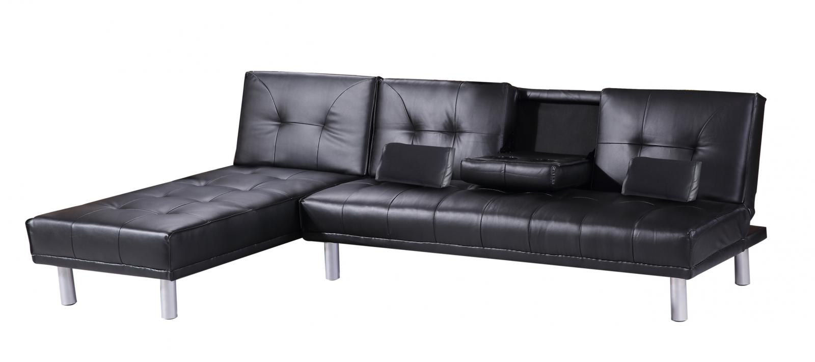 Modern 4 seater l shaped corner faux leather sofa bed for 4 seater sofa with chaise