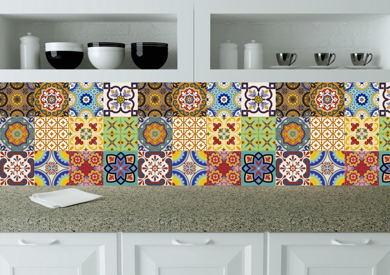 ceramic tile stickers bathroom portuguese tile stickers 24 pc set of tile decals kitchen 17648