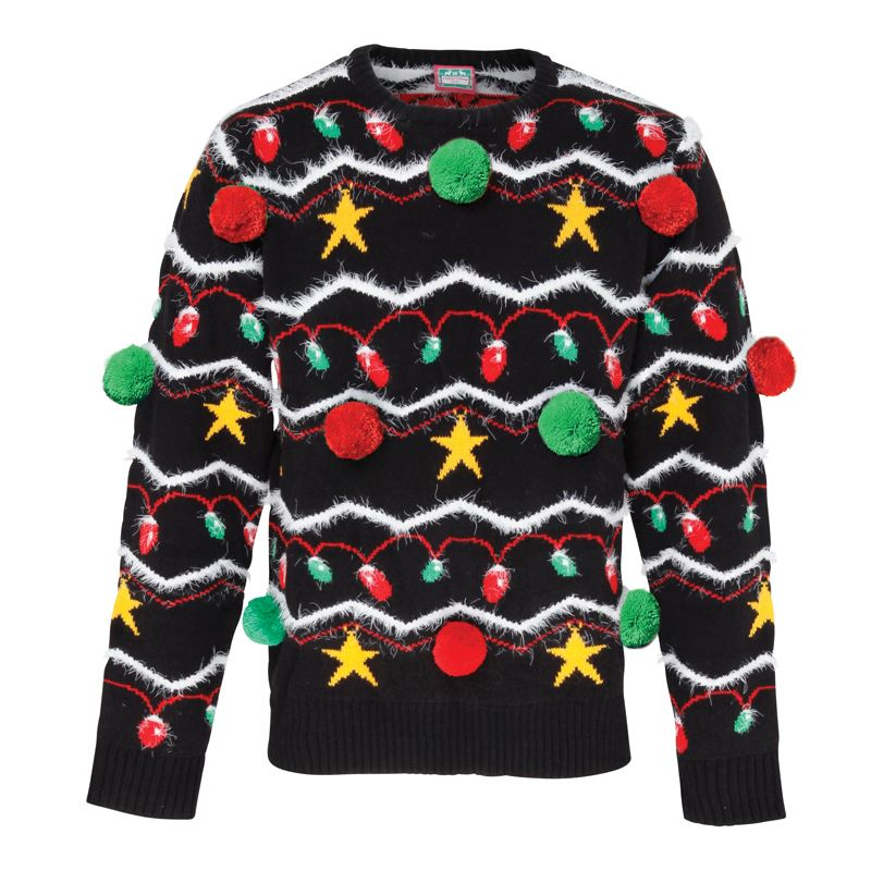 Adults 3d christmas tree decoration jumper sweater xs for Decoration xxl