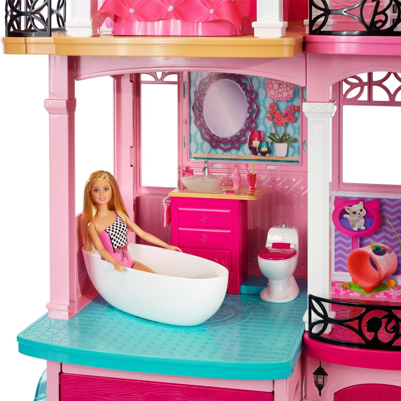 Barbie Room: Barbie Dream House DOLL HOUSE Three Floor Seven Rooms