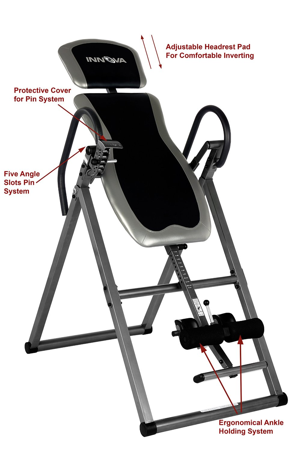 Inversion table innova fitness deluxe heavy duty back for 1201 back therapy inversion table