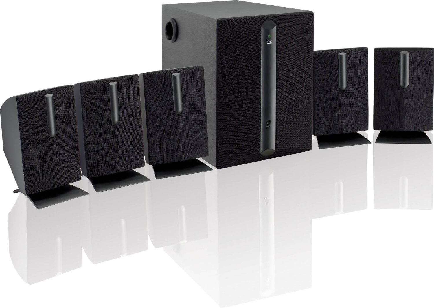 subwoofer surround sound speakers 5 1 ch home theater. Black Bedroom Furniture Sets. Home Design Ideas