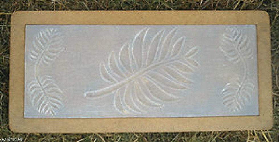 3 16th Quot Plastic Bench Top Concrete Mold Fern Leaves
