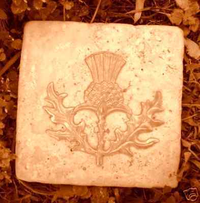 Plaster Cement Thistle Plastic Travertine Tile Mold 6 Quot X 6
