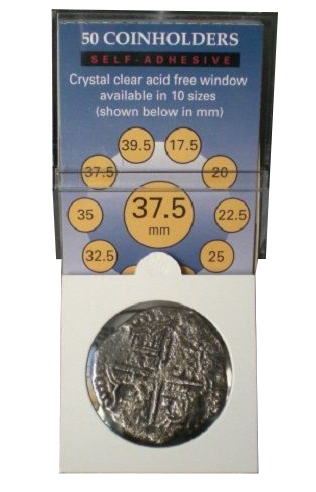 Dime 50 Holders Free Post 20 mm Self Adhesive Coin Flips Supersafe 2x2 US Cent