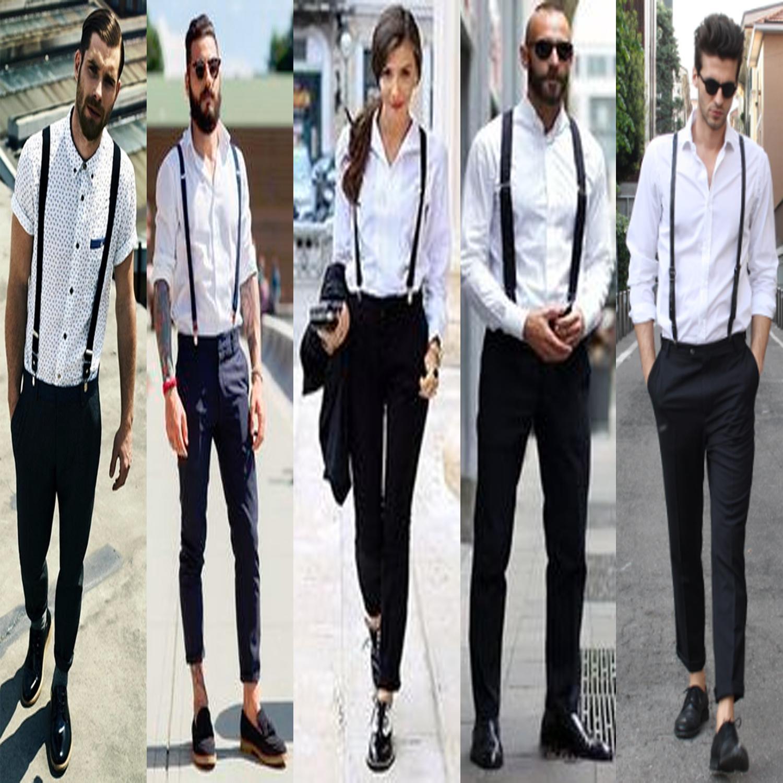 5487358f6 Details about New Unisex Ladies Mens DUTY Braces Suspenders Elastic  Adjustable Slim Fancy Belt