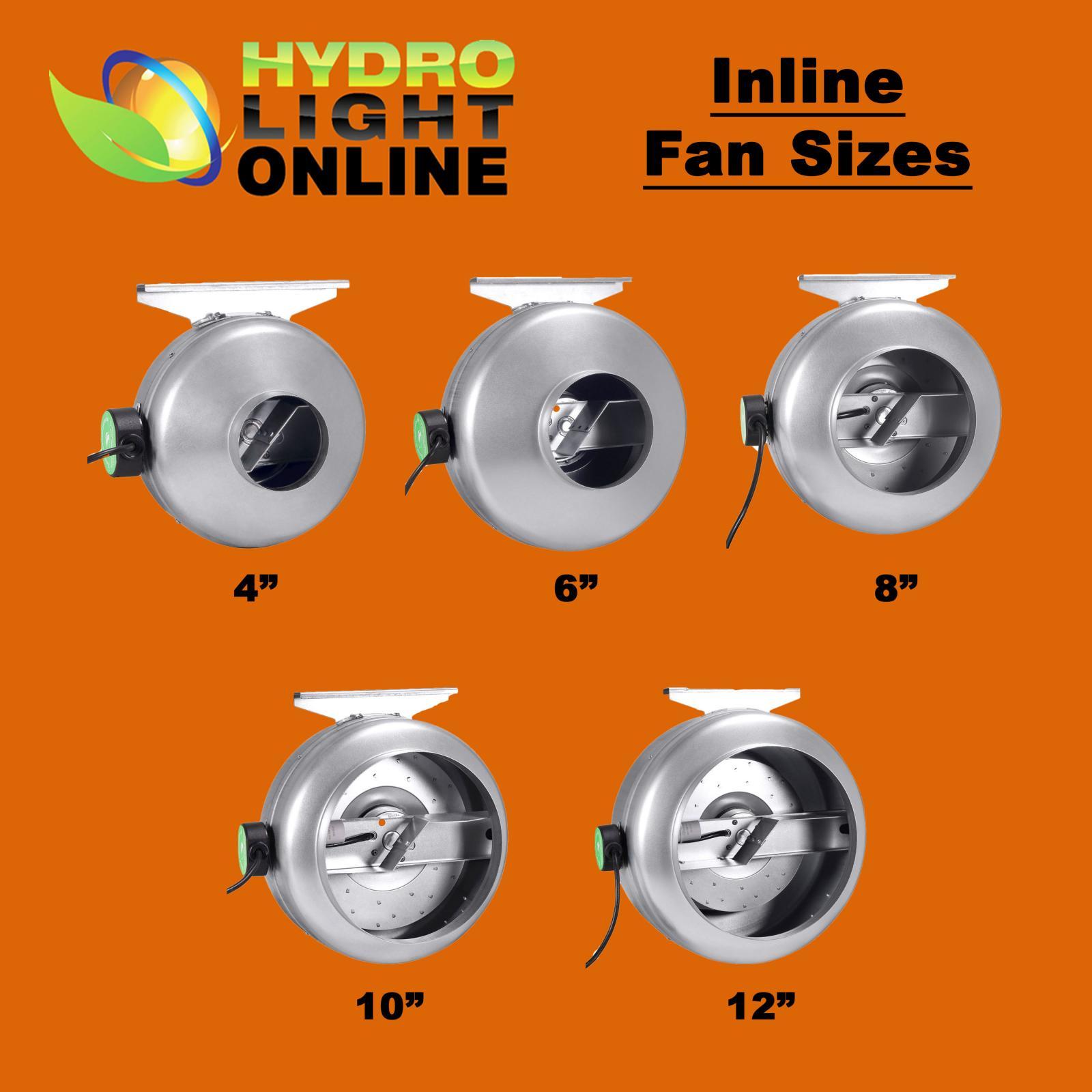 Inline Fan Structure : Hydrolight quot inch inline fan carbon air