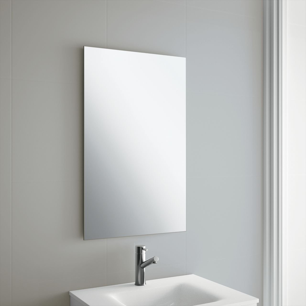50 x 70cm frameless rectangle bathroom mirror with wall for Mirror 50 x 70