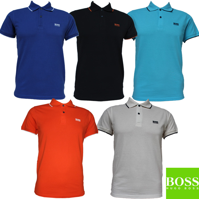 Hugo boss polo t shirt short sleeve 100 cotton size s m l for Boss t shirt sale