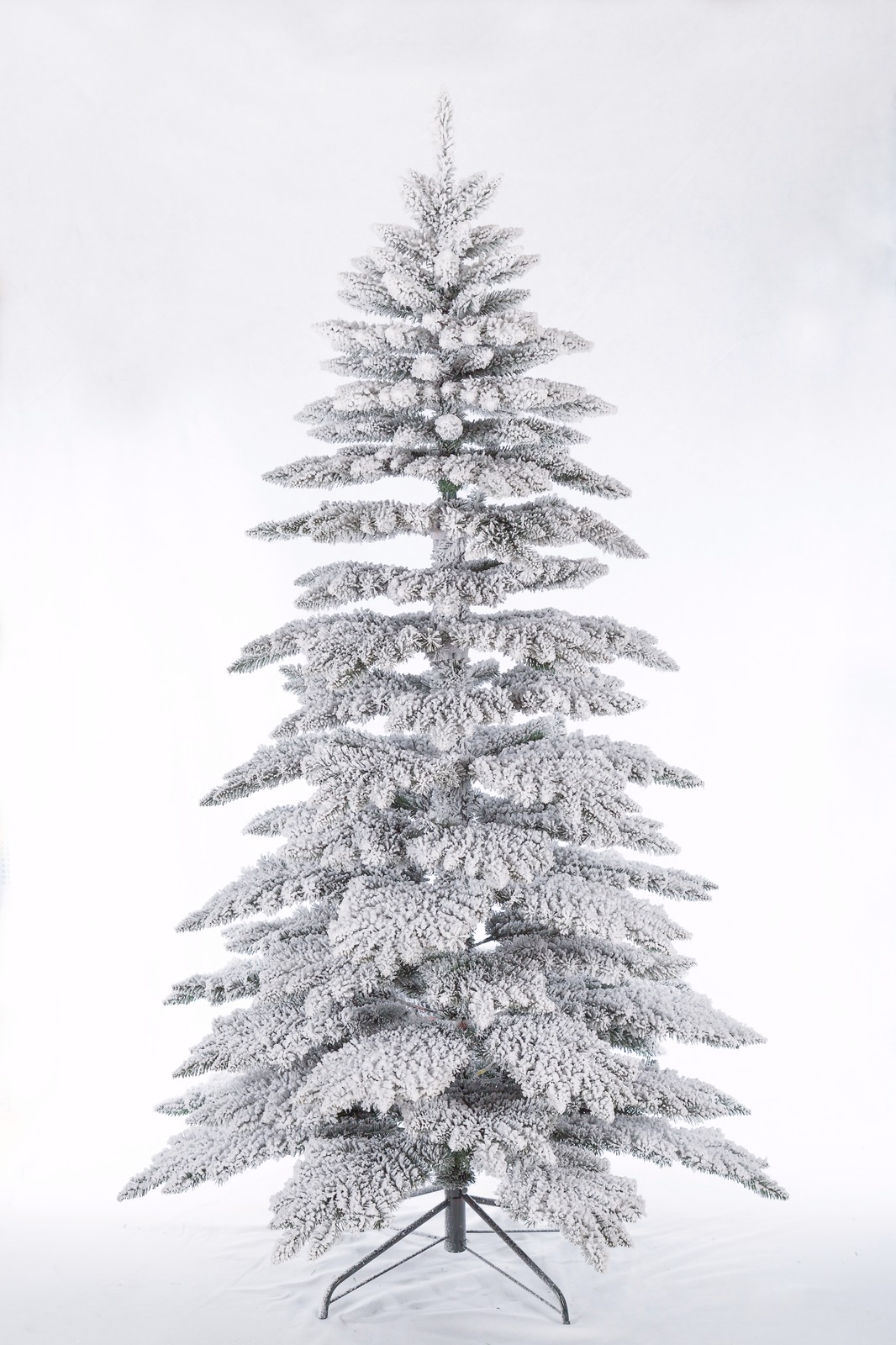 6ft 7ft White Christmas Tree Snowy Artificial Traditional Xmas