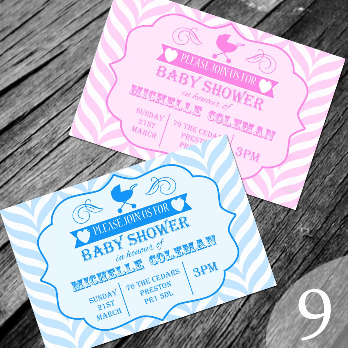 about personalised baby shower invitations invites with envelopes