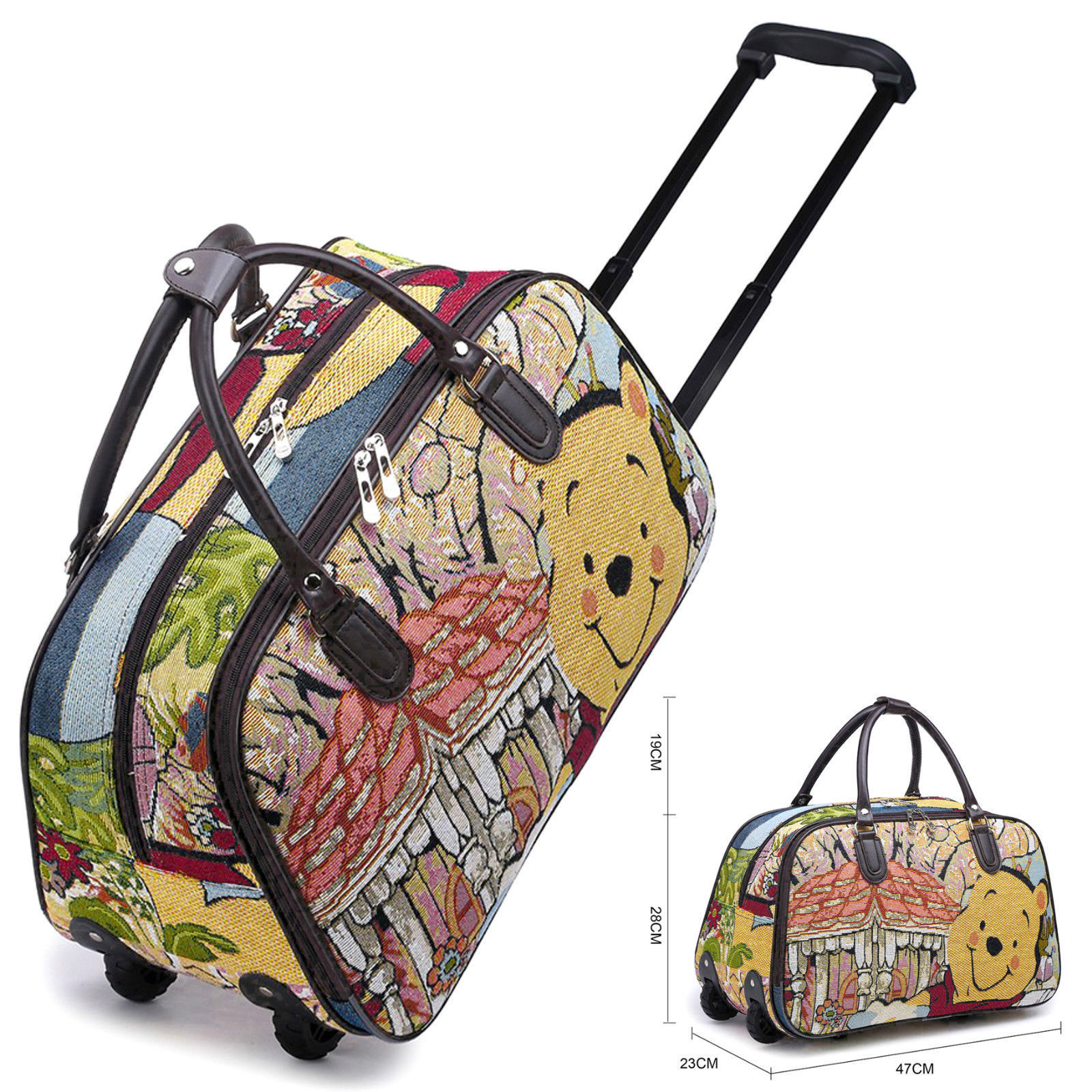 Details about Disney Winnie Pooh   Vintage Holdall Trolley Bag 622383e79