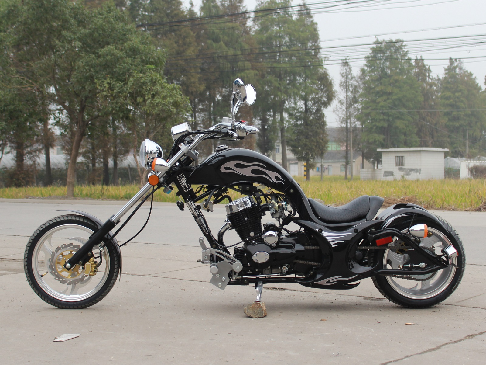 free shippin premium villain 250cc mini chopper motorcycle. Black Bedroom Furniture Sets. Home Design Ideas