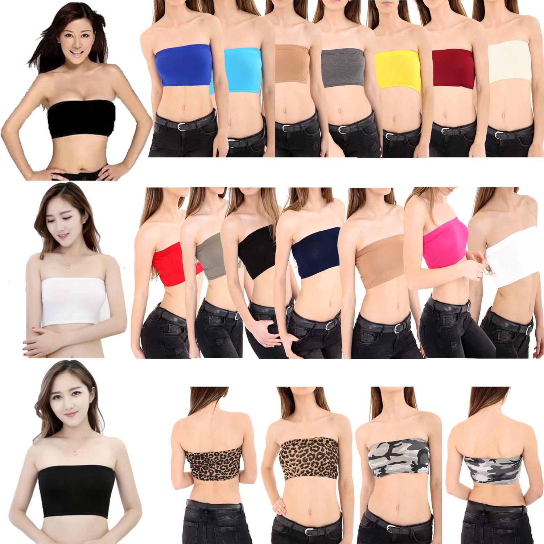 Bra Top Boob Tube Girls Bandeau Crop Vest Top Summer Women/'s Holidays T-Shirt