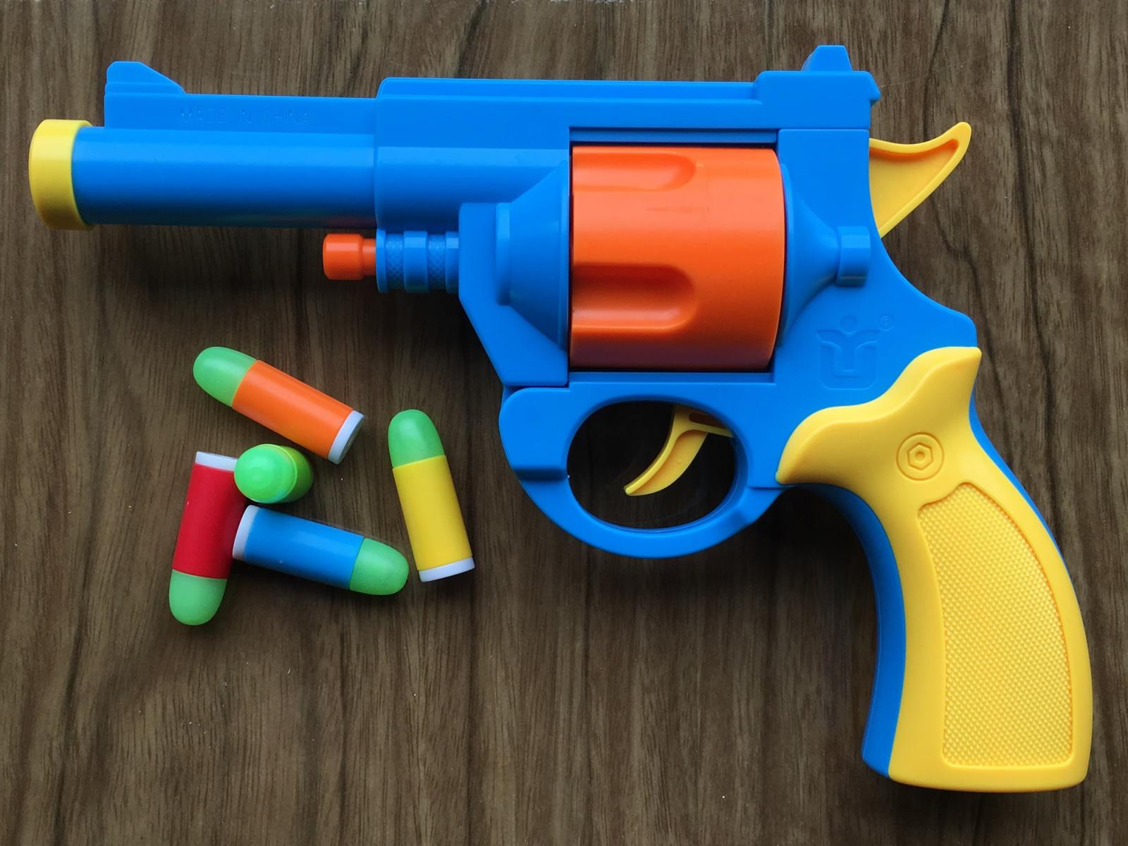 Toy Gun Twin Pack 2x M1911 Nerf Foam Dart Guns Colt 45