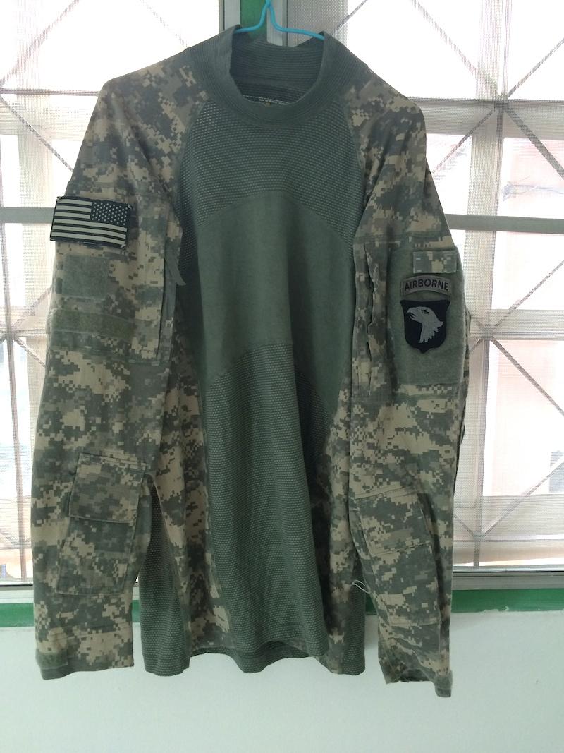 Vintage us army advanced combat shirt under bullet proof for Best shirt to wear under ballistic vest