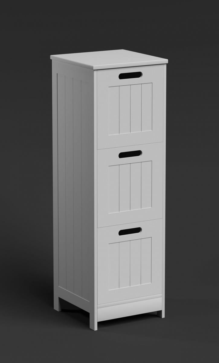 3 Drawer Bathroom Storage Chest Narrow Drawers Cabinet Slim Furniture Unit White Ebay