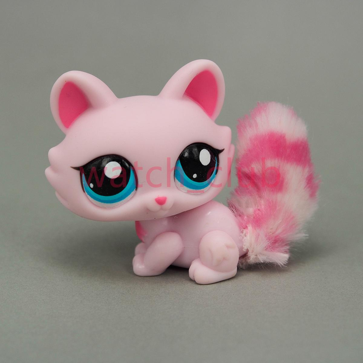 Littlest Pet Shop Pink Cat Furry Tail