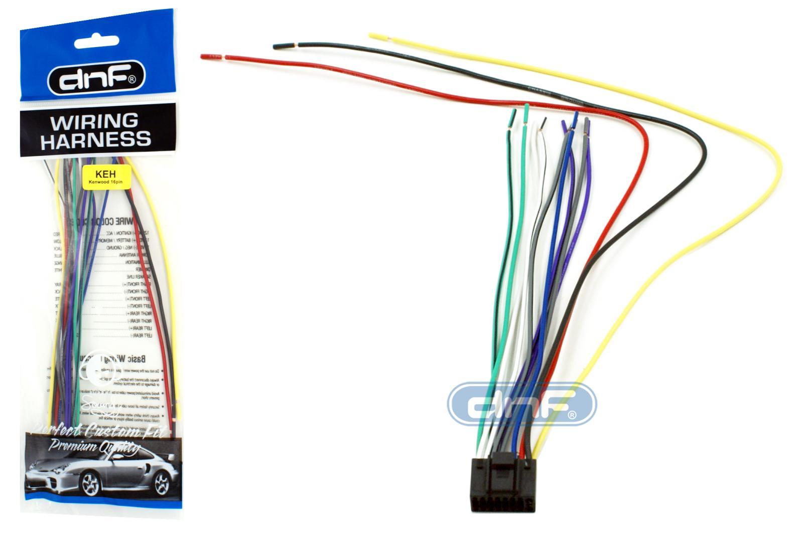 kenwood wiring harness 16 pin kdc mp435u kdc mp438u kdc mp442u rh ebay com Wiring-Diagram Kenwood KDC MP205 Kenwood KDC MP208 Wiring-Diagram