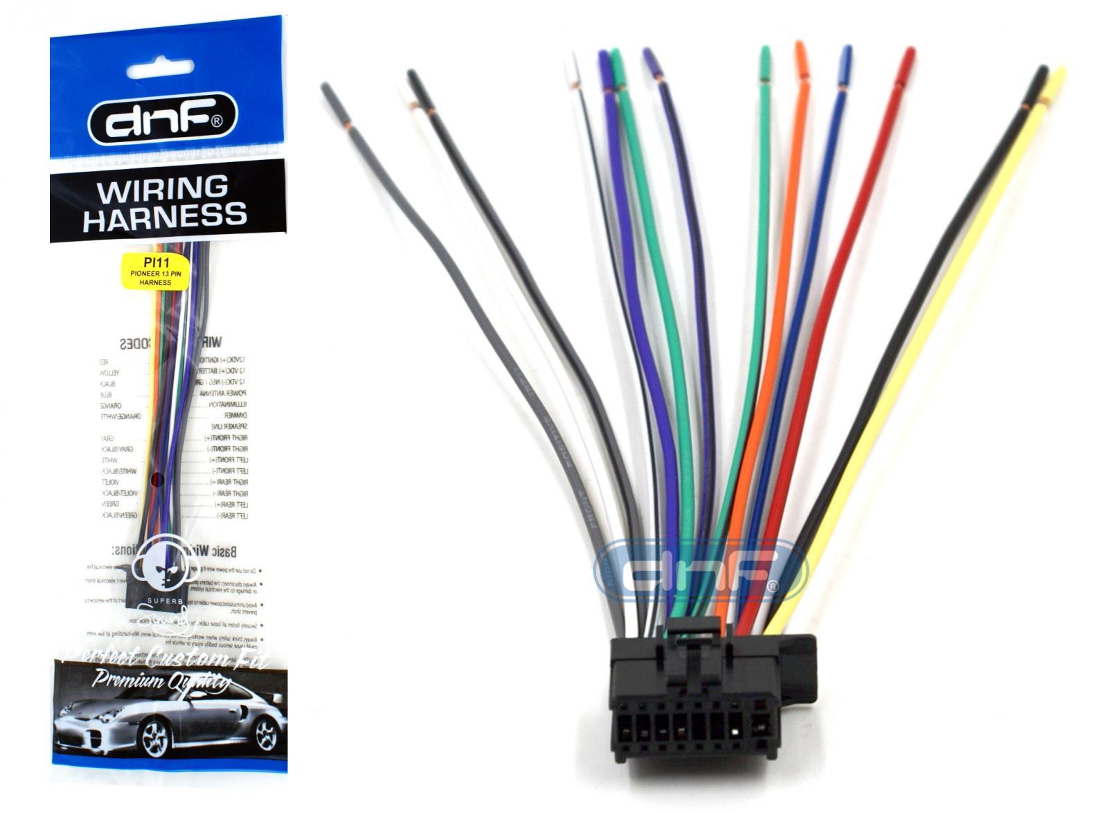 pioneer deh p5200hd deh p6200bt dxt 2266ub wiring harness ships rh ebay com