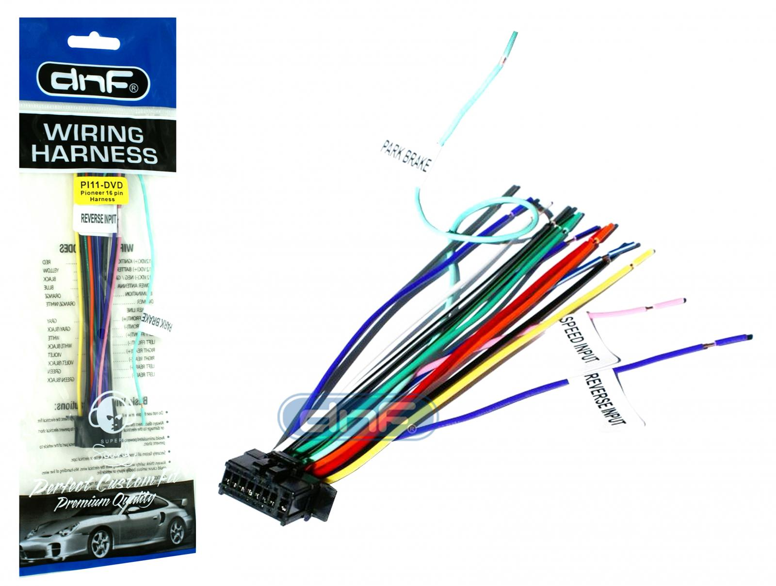 new pioneer wiring harness avh 170 dvd sm deh free same. Black Bedroom Furniture Sets. Home Design Ideas