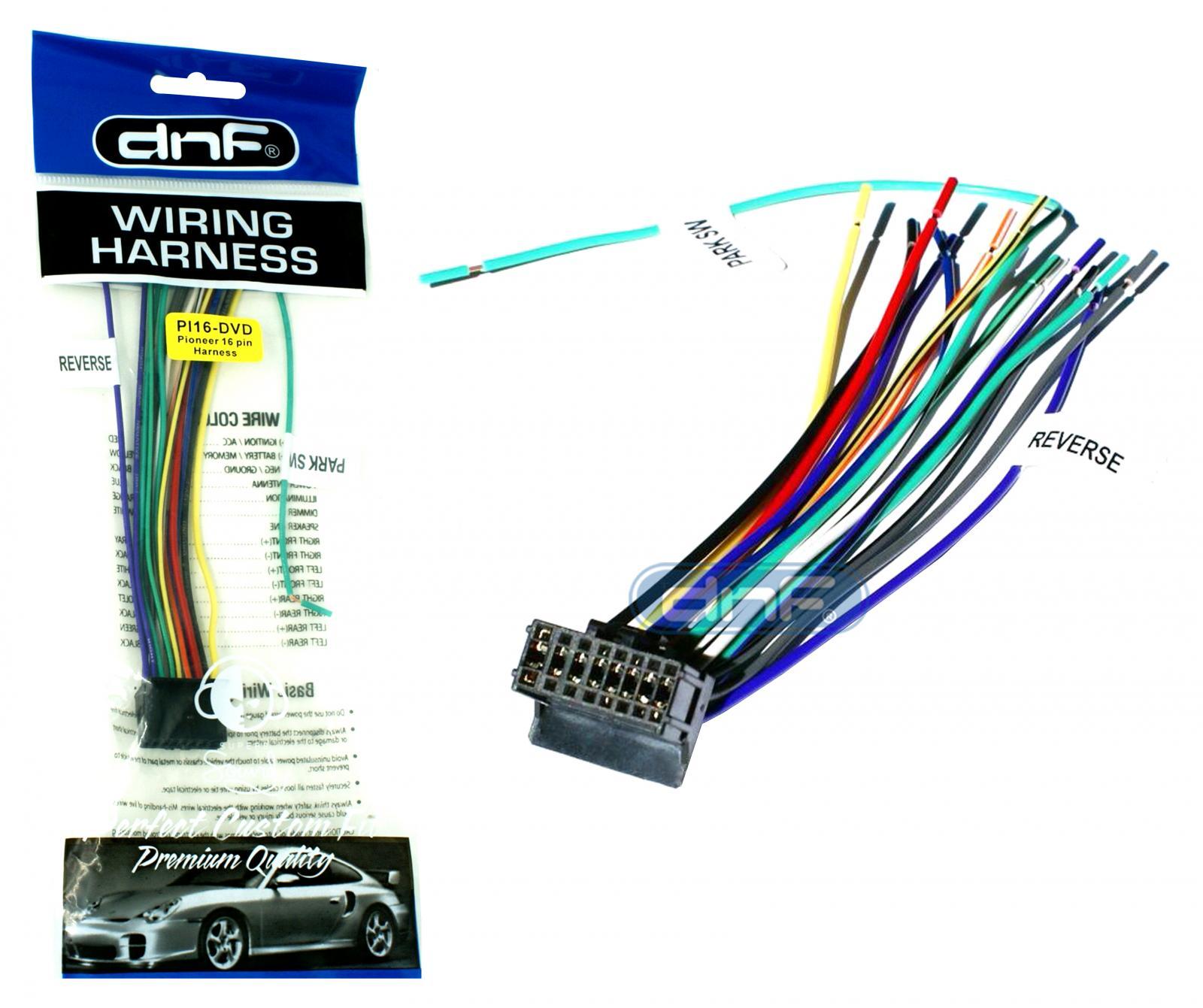 pioneer wire harness avh-100 dvd avh200bt- free same day ... pioneer avh p3200bt wiring diagram