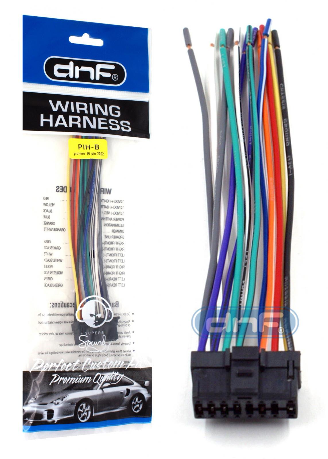 Pioneer Wiring Harness DEH-12 DEH-14 DEH-23 DEH-24F DEH-34 - 100 ...