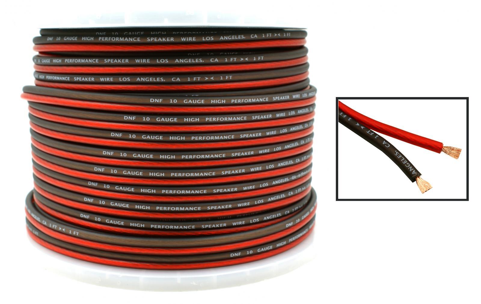 DNF Car Audio Home Speaker Wire 10 Gauge 250 Feet Audio Speaker ...