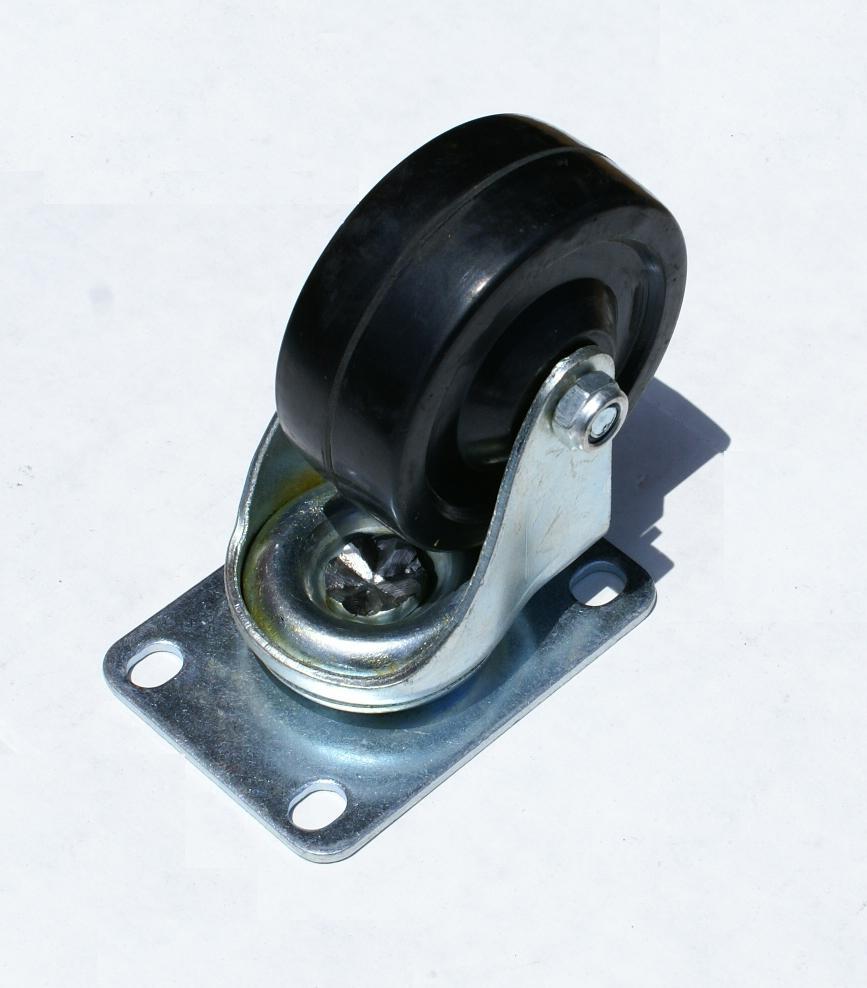 3 Quot Swivel Caster Wheels Rubber Plate Amp Bearing Heavy Duty