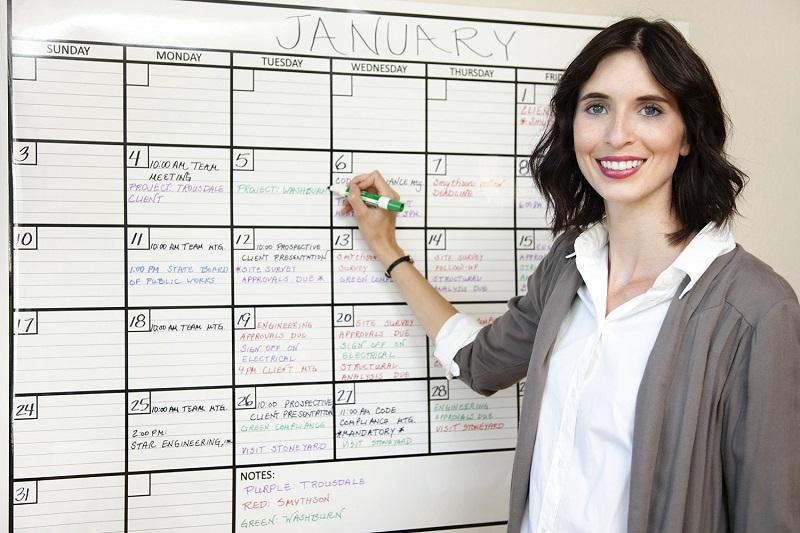 Laminated Jumbo Wall Calendar 36 Quot X 48 Quot Dry Erase