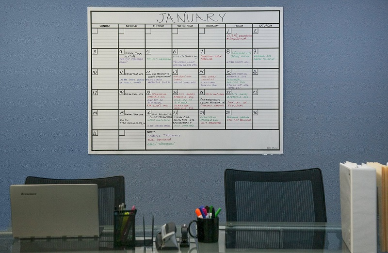 laminated jumbo wall calendar 36 x 48 dry erase erasable one month planner ebay