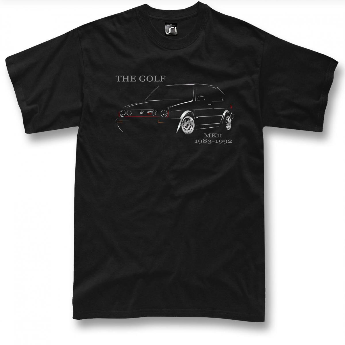 golf mk2 t shirt classic gti 16v sport car mkii. Black Bedroom Furniture Sets. Home Design Ideas