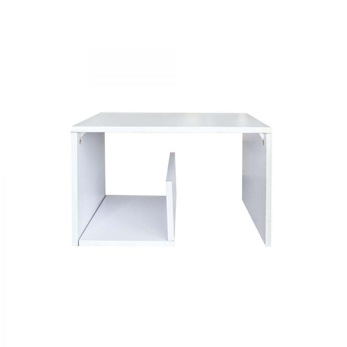 Tavolino bianco basso da salotto soggiorno stile moderno for Soggiorno stile moderno