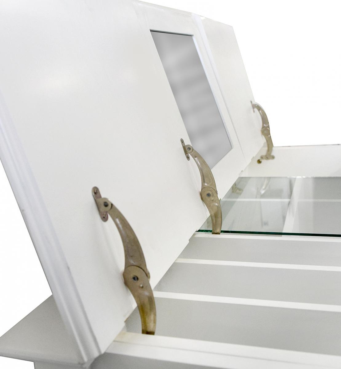 Tavolo make up apribile 3 pannelli con specchiera e vano - Porta trucchi professionale ...