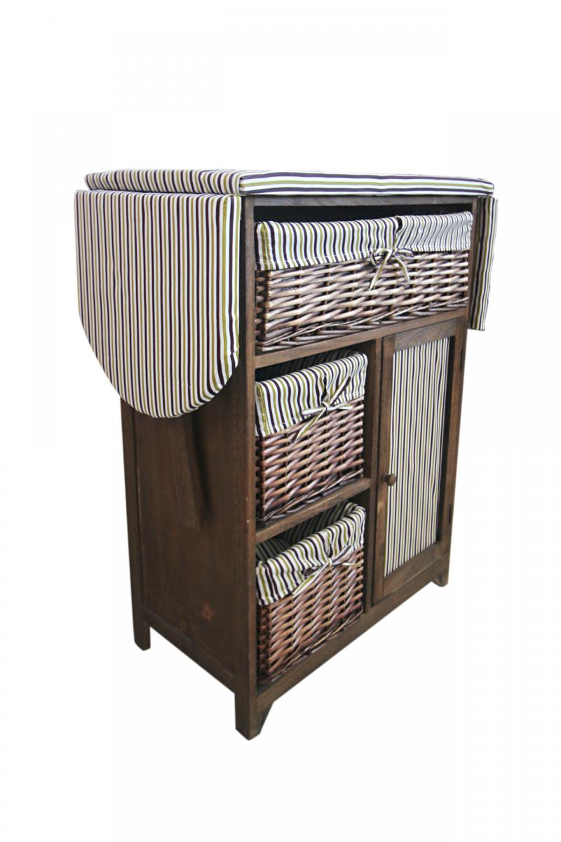 Mobile 2 in uno comodino con asse da stiro in stile country marrone scuro ebay - Mobile asse da stiro ikea ...